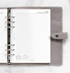 Week On One Page Diary With Notes A5
