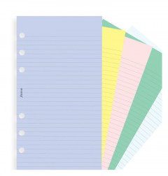Assorted Coloured Notepaper, Plain And Ruled Value Pack Refill
