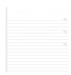 White Ruled Notepaper Personal Refill