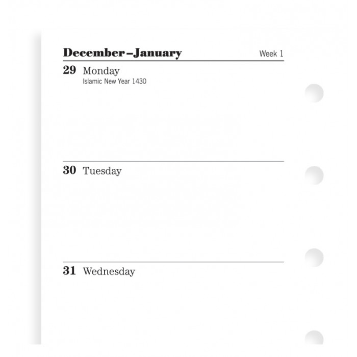Week On Two Pages Diary Mini 2019