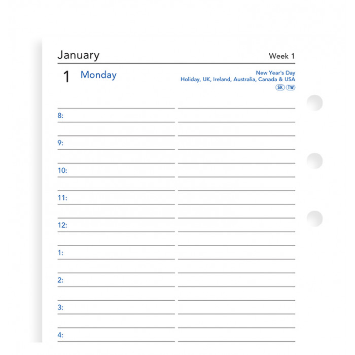 One Day On A Page Diary With Appointments Personal 2019