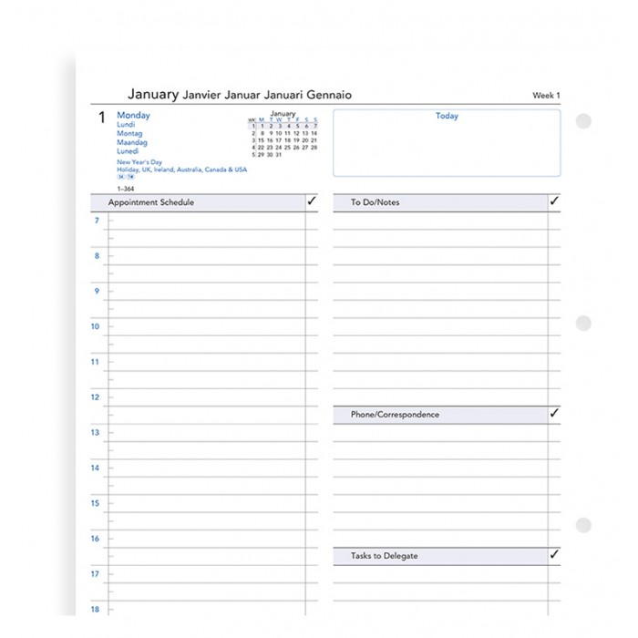One Day On A Page Business Diary A4 2020