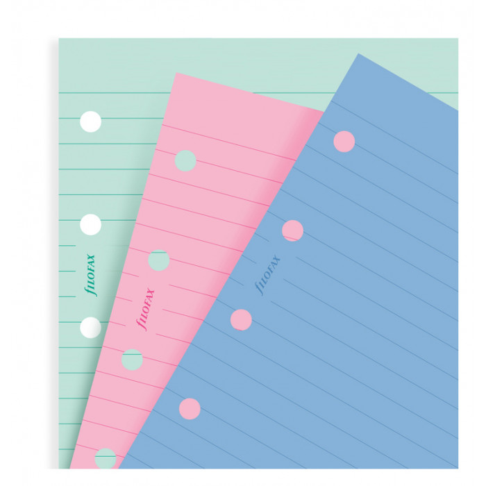 Fashion Coloured Ruled Notepaper Personal Refill