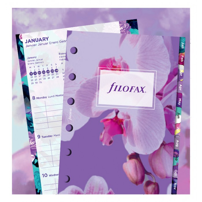 Floral Illustrated Diary Refill Pack Pocket 2020