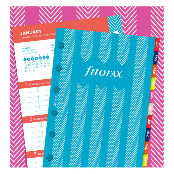 Stripes Illustrated Diary Refill Pack Pocket
