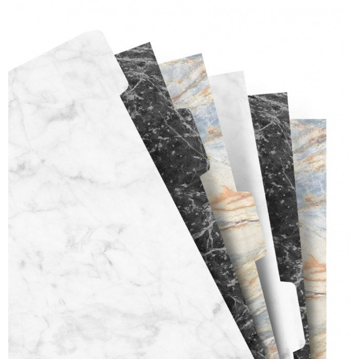 Marble Blank Index Personal - Six Tabs