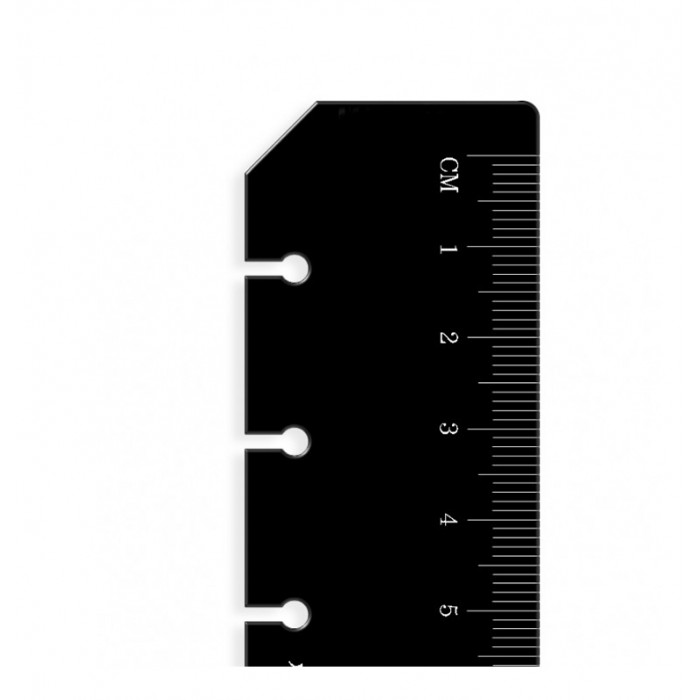 Ruler Page Marker Black A5